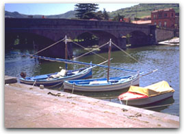 Bosa - The mouth of the river Temo